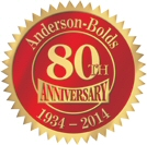 Anderson-Bolds - Serving Customers for 80 Years